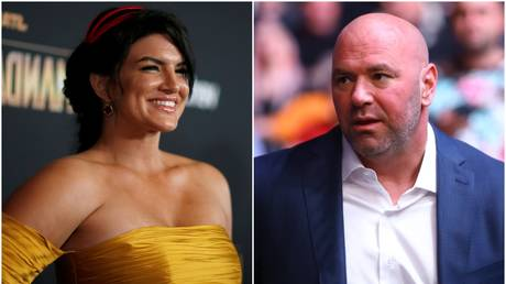 MMA fighter-turned actress Gina Carano (left), and UFC boss Dana White (right) - Reuters / MARIO ANZUONI; Reuters / Mark J. Rebilas