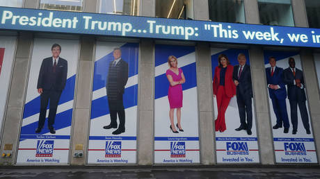 "Fox News (New York HQ pictured here in January 20, 2021 file photo) is among the networks accused by Democrats of ""disinformation."""