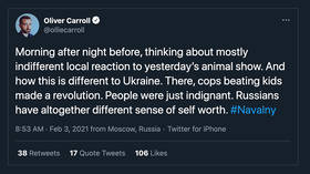 British newspaper's man in Moscow claims Russians 'lack self worth' because they failed to riot over Navalny court verdict