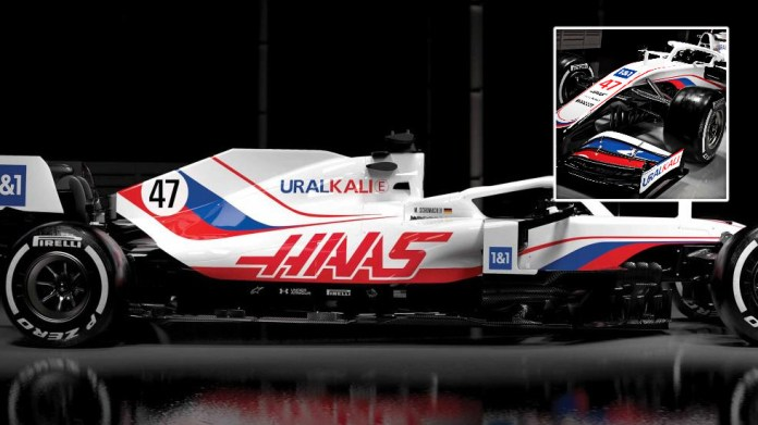Color clash: Haas cause stir with livery resembling Russian flag for new F1 season after firm co-owned by Mazepin's dad backs team