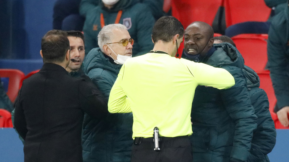 UEFA suspends Romanian official over racism row which sparked Champions League walk-off