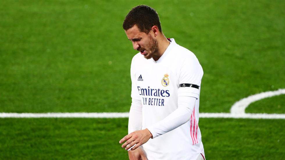 Hazard warning: Real Madrid medical department panned as Belgian star Eden Hazard picks up ELEVENTH injury in less than two years