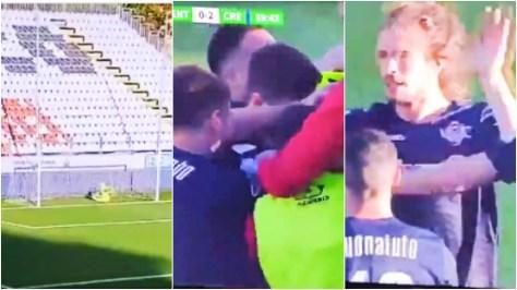 'The best goal I've ever seen': Football fans stunned by 70-YARD wonderstrike in Italian Serie B game (VIDEO)