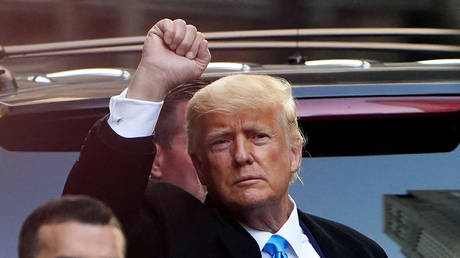 FILE PHOTO: Former US President Donald Trump in New York City, New York, US, March 9, 2021.