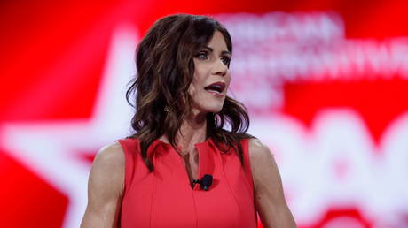 Gov. Kristi Noem of South Dakota speaks at the Conservative Political Action Conference (CPAC) in Orlando, Florida, U.S. February 27, 2021.