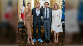 Justin Bieber goes viral on Instagram after 'dropping in' on French President Macron at Elysee Palace