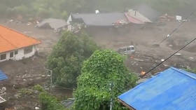 Up to 20 missing after powerful landslide ploughs through houses due to heavy rain in Japan (VIDEO)