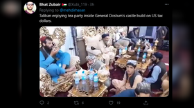 VIDEOS show Taliban fighters lounging in luxurious ex-home of US-backed warlord as pundits blame grift for collapse of Afghan army