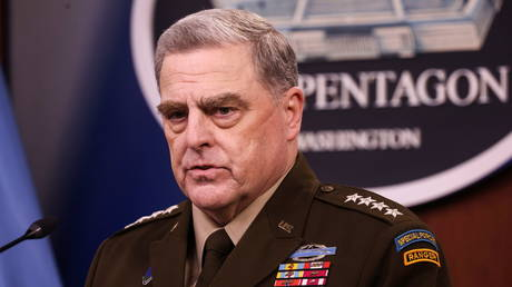 Joint Chiefs Chairman General Mark Milley at the Pentagon, September 1, 2021.