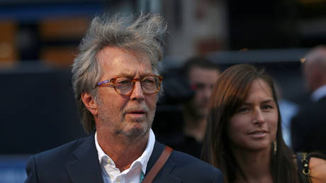 Eric Clapton attends world premiere of 'The Beatles: Eight Days a Week - The Touring Years' in London