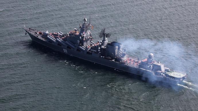 Russia's 'aircraft carrier killer' Varyag and battle cruiser Pyotr Veliky arrive in Mediterranean — RT World News