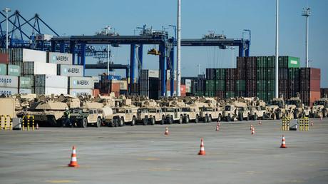 Livraison de matériel américain à l'OTAN en Pologne en septembre 2017, photo ©Agencja Gazeta/Reuters