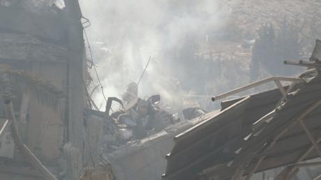 Depuis Barzeh, site frappé par les Etats-Unis dans l'attaque nocturne