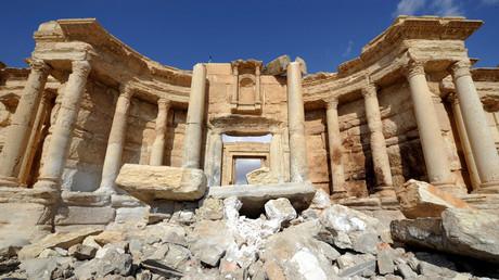 Les dégâts de l'amphithéâtre de la cité antique de Palmyre (image d'illustration).