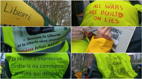 Procès de Julian Assange : des Gilets jaunes présents pour le début des audiences à Londres