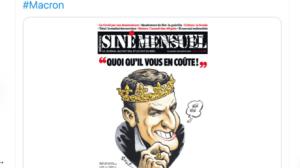 Siné Mensuel accusé d'antisémitisme par le Crif et BHL après une caricature de Macron en Une