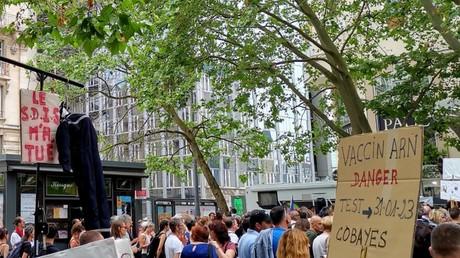 Rassemblement contre la «dictature sanitaire» à Nancy : un mannequin de pompier pendu fait polémique