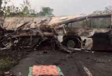 عشرات القتلى والجرحى بحادث مروري العلو غانا 12