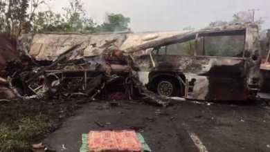 عشرات القتلى والجرحى بحادث مروري العلو غانا 3