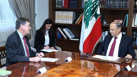 US official discusses Beirut dispute resolution with Israel and Aoun confirms Lebanon's adherence to sovereignty