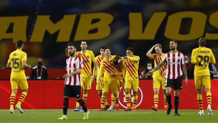 Watch .. Barcelona's goals against Bilbao in the Copa del Rey final