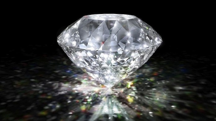 A 101-carat Russian diamond was put up for auction in Geneva