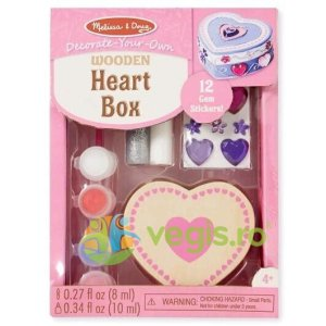 MELISSA AND DOUG Heart box. Cutie de decorat din lemn: Inimioara