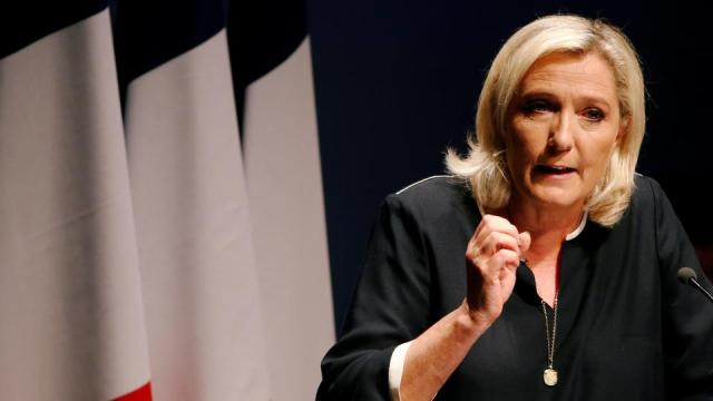 France's far-right leader Marine Le Pen delivers a speech for the next year's municipal elections in an end-summer annual address to partisans in Frejus, France September 15, 2019.