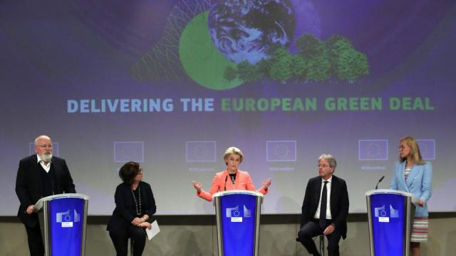 European Commission proposes a 100 percent cut in CO2 emissions by 2035, which would make it impossible to sell new fossil-fuel-powered vehicles in the 27-country bloc.