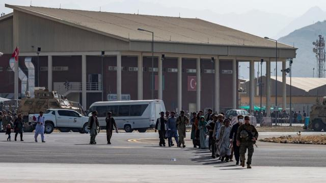 Afghan nationals are seen to be evacuated from the country via the Hamid Karzai International Airport in Kabul, Afghanistan on August 20, 2021.