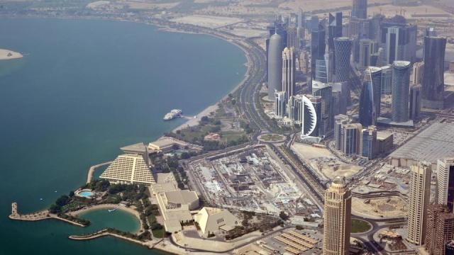 Aerial view of Doha, Qatar, 29 August 2013.