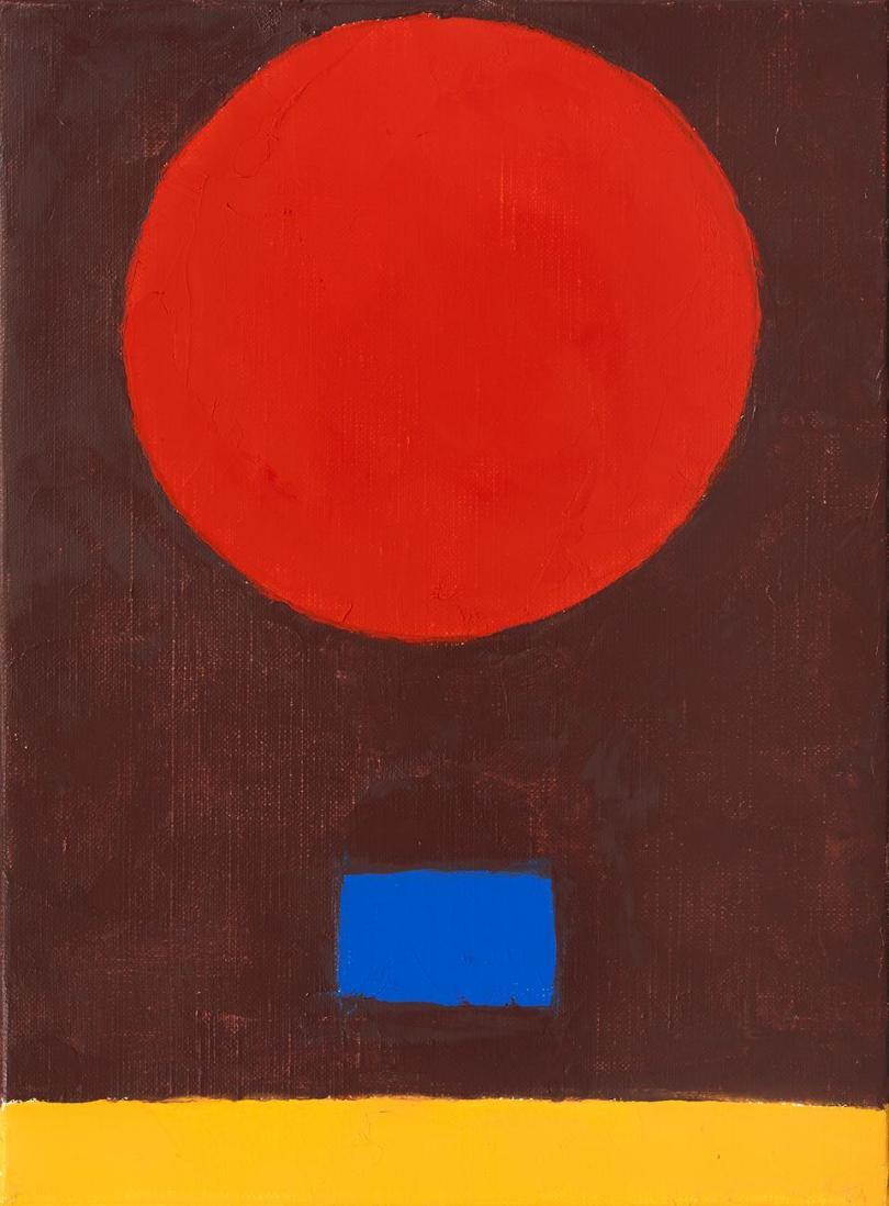 Le poids de la lune (The Weight of the Moon) 15, 2018. Oil on canvas, 33 x 24 cm.