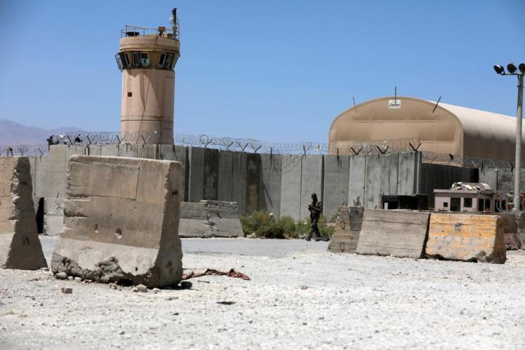 This picture shows the gate of the Bagram Air Base, which was the operational centre of the US-led coalition's invasion of Afghanistan in 2001.