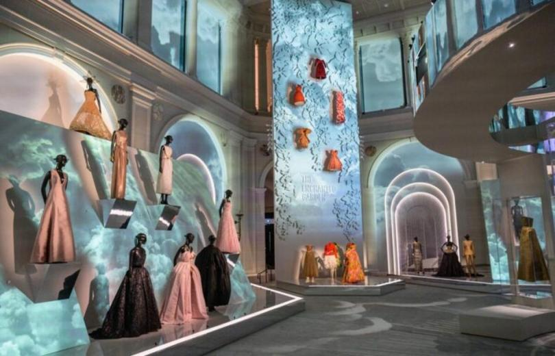 Creations by French fashion designer Christian Dior are on display at the