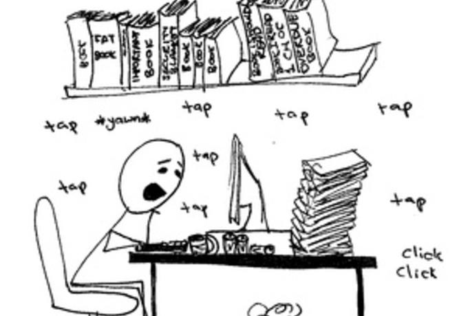 Cartoon thesis writing