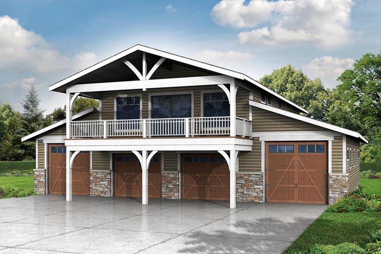 Garage Plan 41159 6 Car Garage Country Style