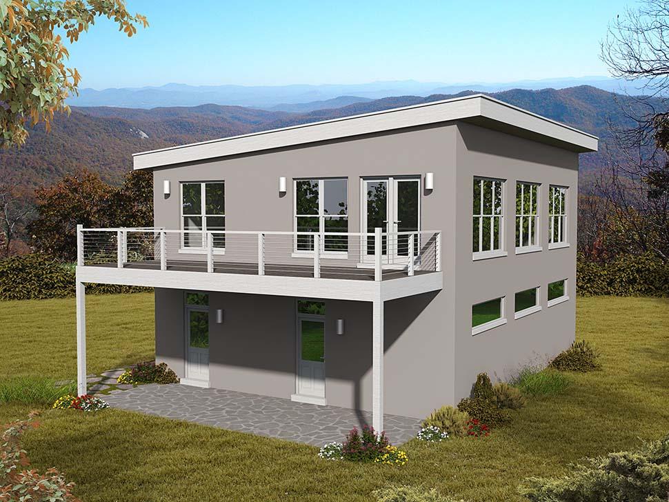 Garage Plan 51695 3 Car Garage Apartment Modern Style