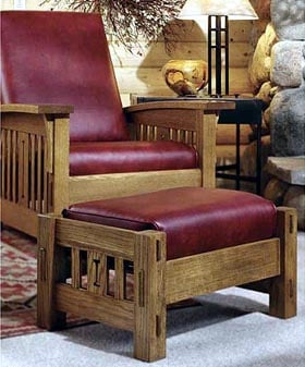 Product Code DP00093  Arts and Crafts Morris Chair Woodworking Plan