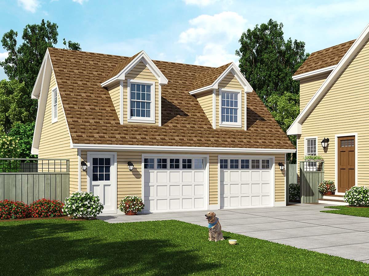 Garage Plan 30030 2 Car Garage Apartment Saltbox Style