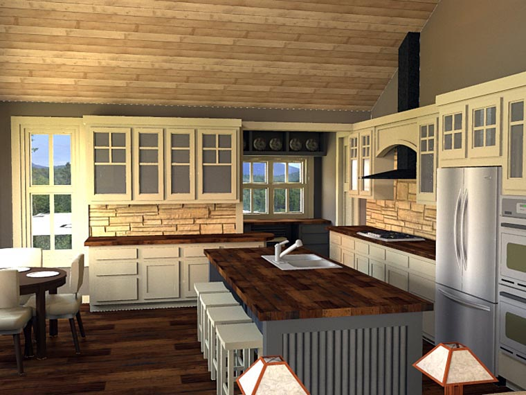 Plan 42653 Craftsman Style House Plan With 3 Bed 3 Bath
