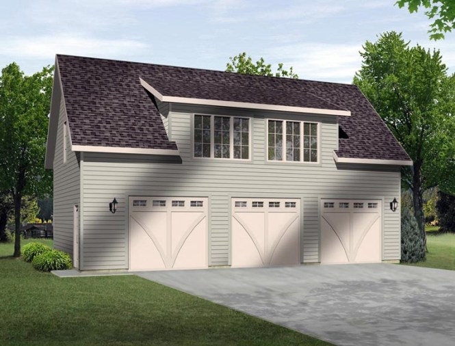 Garage Plan 45131 3 Car
