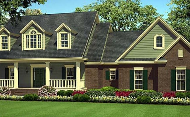 Country Farmhouse Southern Traditional House Plan 55602