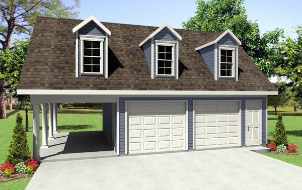 Garage Plans With Attached Carport
