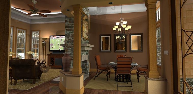 Craftsman Tuscan House Plan 65862