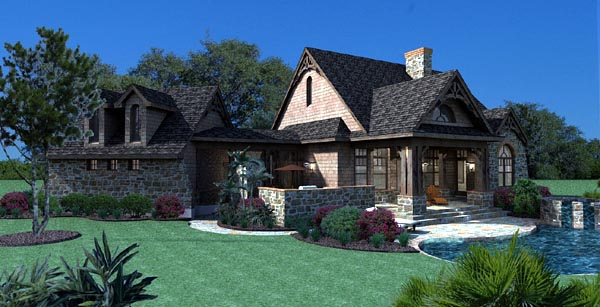 Cottage Craftsman Tuscan House Plan 65866 with 1698 Sq Ft