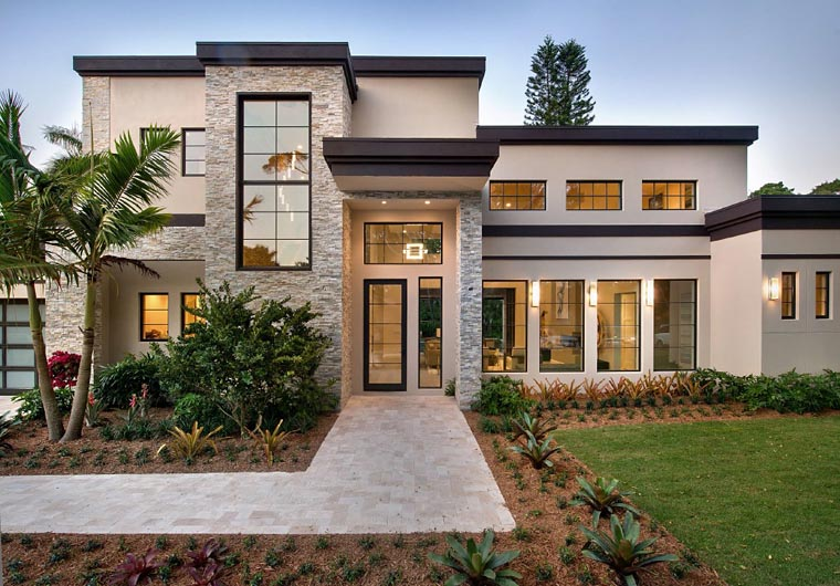 Plan 71535  Contemporary Style House Plan with 4 Bed 6 Bath