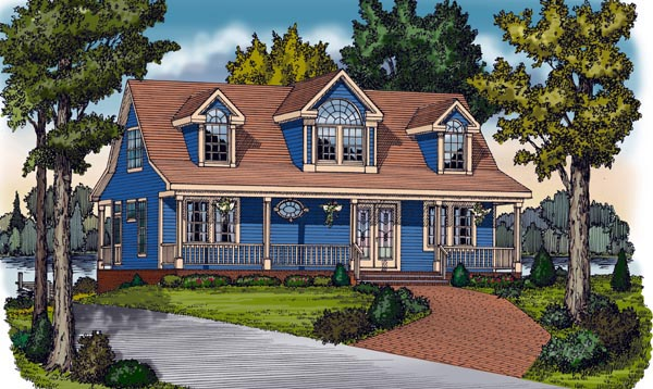 Cape Cod Cottage Country Farmhouse Traditional House Plan