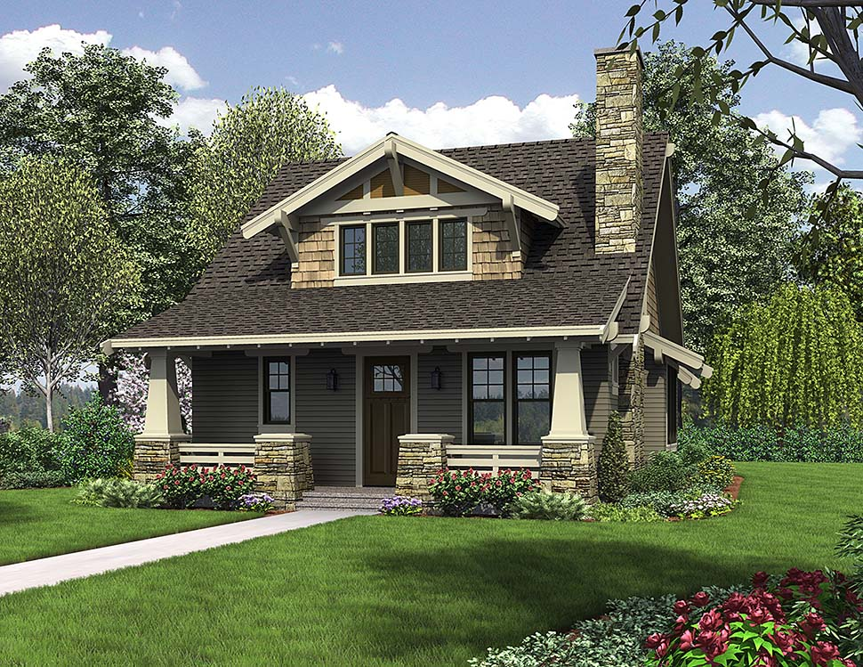 House Plan 81214 Craftsman Style With 1777 Sq Ft 3 Bed 2 Bath 1 Half Bath
