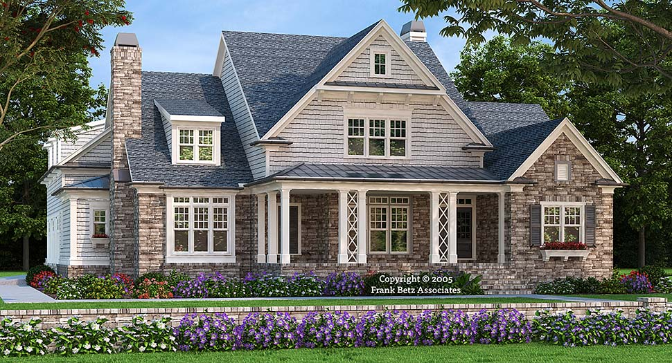 House Plan 83074 Craftsman Style With 3878 Sq Ft 4 Bedrooms 6 Bathrooms 3 Car Garage