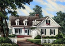 Cape Cod House Plans with Garage